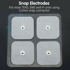 40Pcs 2x2 Snap On Electrodes Reusable Pads Replacement for EMS Muscle Stimulator