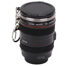 Hot ! Keychain Camera Lens Cup Coffee Tea Mug Stainless Steel Thermos&Lens Lid G
