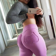 Women Sports Yoga Pants High Waist Running Gym Workout Leggings Stretch Trousers
