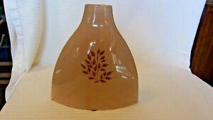 """Brown Ceramic Oval Vase, Matt Glaze From World Market 8"""" Tall"""