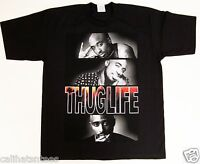 TUPAC SHAKUR T-shirt 2PAC Tee West Coast Cali Rap Hip Hop Adult Men Black New