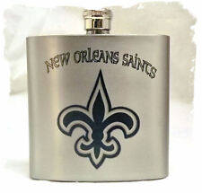 New Orleans Saints 7 ounce Stainless Steel Flask