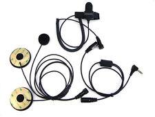 Motorcycle Helmet Headphone Headset Mic for Cobra 2/Two Way Radio CX312 CXT645