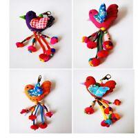 Bird Key Chain Thai Hmong Handmade Pom Pom Colorful Zip Pull Bag Accessories
