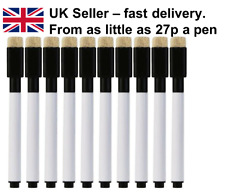 Black Whiteboard Marker Dry Wipe Pens With Eraser 2 4 6 8 10 20 50 100