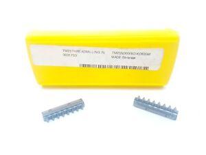 x2 Kennametal TM25N300ISO Carbide Inserts KC635M Thread Milling Tips #CB2