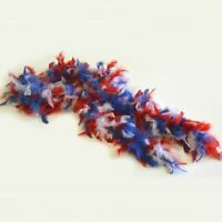 HSC Red White & Blue 6 Foot Turkey Feather Patriotic Boa