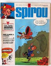 a) SPIROU n°1847  sans les autocollants / Carte Blanche Lambil