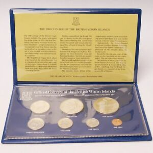1980 Coinage of the British Virgin Islands BU Specimen Set