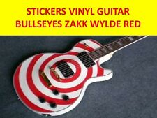 STICKERS BULLSEYES RED STYLE LES PAUL VISIT OUR STORE WITH MANY MORE MODELS