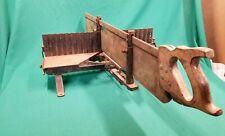 Antique GOODELL PRATT Cast Iron Wood Hacksaw Bench Miter Saw Tool Barn Find