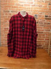 NWT Men's Chaps Brushed Flannel Plaid Long Sleeve Button Down Shirt Sz 3XLT {F03