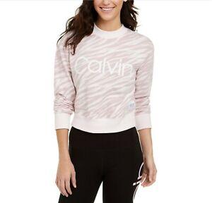 Calvin Klein Performance Cotton Zebra-Print Top XL $59.50