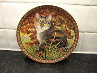 FOUR SEASONS CAT   PLATE -  LYNFASCAT IN AUTUMN    - DANBURY MINT