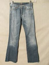 F1375 7 For All Mankind Boycut High Grade Stretch USA Made Jeans Women's 27x32