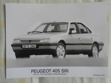 PEUGEOT 405 SRI Press Photo brochure 1991 texte allemand
