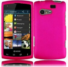 For Kyocera Rise C5155 Rubberized HARD Protector Case Snap Phone Cover Hot Pink