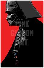 Star Wars Minimalist Figure Art Print Poster Darth Vader Yoda Sideshow Sith Lord