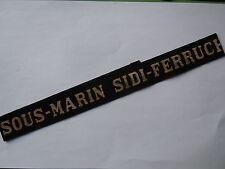 SOUS MARIN SIDI FERRUCH Marine Ruban légendé ORIGINAL WWII Guerre 1939/1945