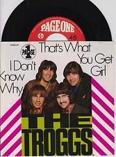 """THE TROGGS - That's What You Get Girl - Original 1969 German 2-trk 7"""" single,p/s"""