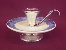 WEDGWOOD VINTAGE BLUE COLONIAL CANDLE HOLDER - NEW