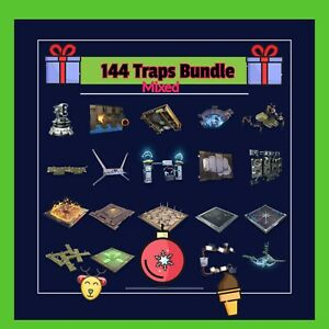 Traps Bundle (mixed)  144 God Rolled Traps. Fortnite Save The World Traps