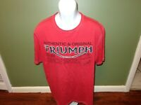 Triumph Motorcycle Embroidered RED T SHIRT SIZE MENS XL