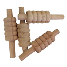 Opttiuuq QVU Wooden Cricket Bails. Set of 4. Junior and Senior Sizes available
