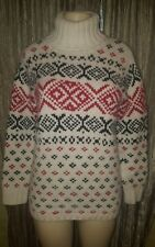 EDDIE BAUER HOLIDAY SEASON CHRISTMAS LAMBSWOOL SWEATER SIZE XS