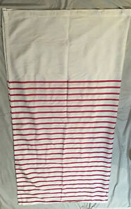Kate Spade White Hot Pink Striped Harbour Stripe Shower Curtain