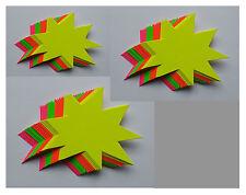60 Sterne 3 Größen Preisschild Karton Neon Werbung deko Schaufenster Stanzteile