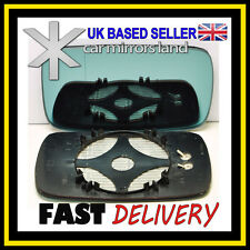 Left Passenger Side Wing Mirror Glass HEATED BLUE ASPHERIC BMW 5 E39 95-03