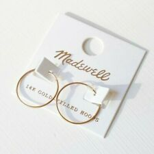 Madewell 14k Gold Filled Hoop Earrings New w/ tags