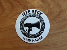 Jeff Beck - Loud Hailer promotional round sticker