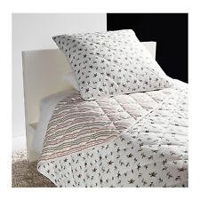 "IKEA EMMIE BLOM Twin 110""x71"" Bedspread &1 Cushion Cover 26""x26"" 100% cotton"