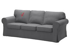 IKEA EKTORP NORDVALLA GRAY 002.975.05 SLIPCOVER FOR TOP END CUSHION ONLY