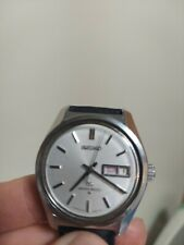 mens vintage silver Grand Seiko 6146-8000 dress day date watch Leather band