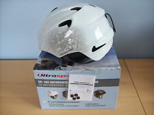 Helmet Ultrasport Pro Race M Edition Ski Snowboard Helmet White L / XL New Boxed