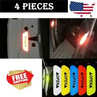 4 pcs Safety Reflective Tape Open Sign Warning Mark Car Door Sticker Accessories