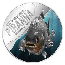 Niue 2013 $2 Real River Monsters - Piranha Proof .999 1oz Silver Coin LIMITED!!!