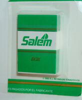Vtg Scripto Salem Cigarette Box Ad Lighter NOS New Card Sealed 1990 RJ Reynolds