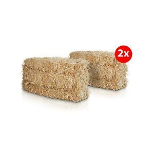 2 Ballen Weizenstroh mit jeweils 12kg für Pferde Kaninchen Meerschweinchen Stroh