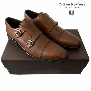 $495 To Boot New York Leather Cap Toe Double Monk Strap Men's Loafers Size 11