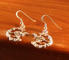 "Greyhound/Sighthound Sterling Silver Ear Rings -""Duncan Running on the Beach"""