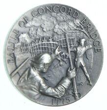 Sterling Silver - Battle Of Concord Bridge - 925 - 35.9 Grams Round/Art Bar *421