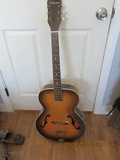 Vintage Silvertone  Arch Top Guitar F Hole Sunburst -Estate Sale Find