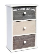 Mini cassettiera in legno con 3 cassetti portaoggetti portagioie shabby chic