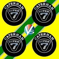 4 adhésifs stickers noir chrome CATERHAM de 40 à 100 MM pour centre de jantes