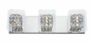 Patriot Lighting Gemma 3-Light Vanity Chrome Finish With Clear Glass