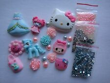 Pink Blue Kids Animal Dress Hello Kitty Deco Den DIY Kit Cabochon 4354